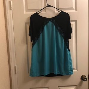 Black and Blue Lacey Top